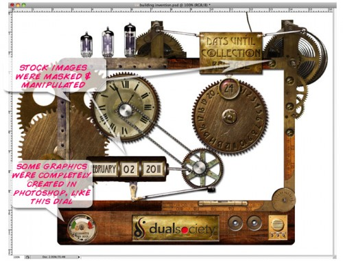 Photoshopping a steampunk invention